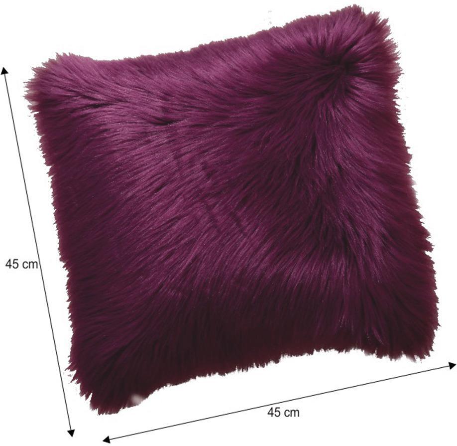 Vankúš, fialová, 45x45, EBONA TYP 8
