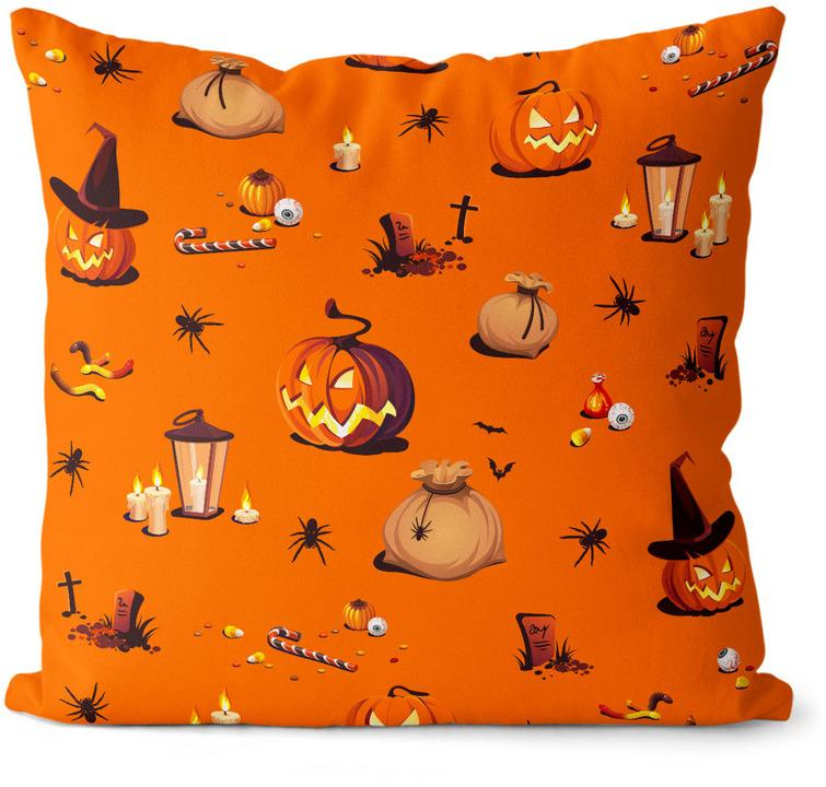 Vankúš Halloween vzor 1 (Velikost polštáře: 40 x 40 cm)