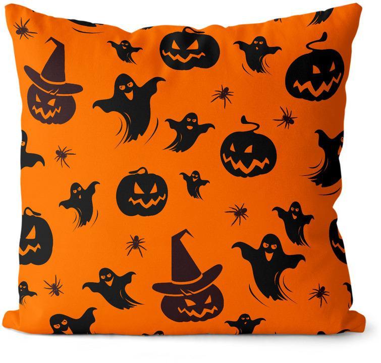 Vankúš Halloween vzor 2 (Velikost polštáře: 55 x 55 cm)