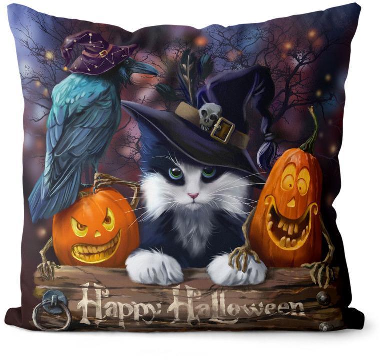 Vankúš Happy Halloween (Velikost polštáře: 55 x 55 cm)