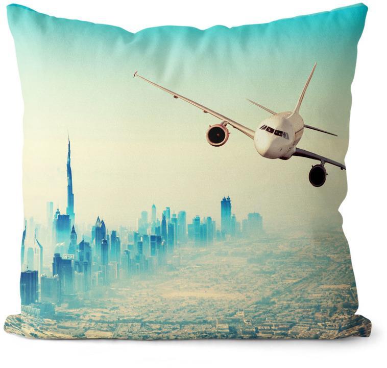 Vankúš Lietadlo Dubai (Veľkosť: 55 x 55 cm)