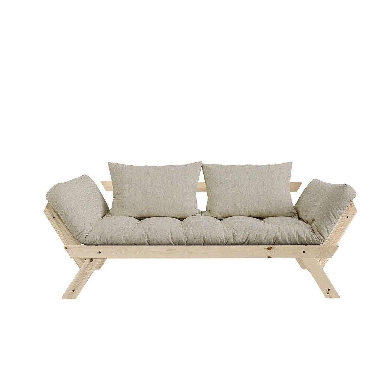 Variabilná pohovka Bebop – Clear lacquered/Linen