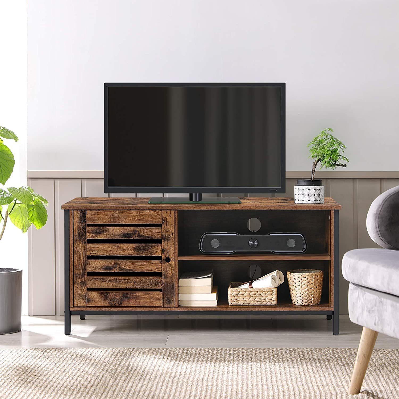 VASAGLE Rustikálny TV stolík 110 x 50 x 40 cm