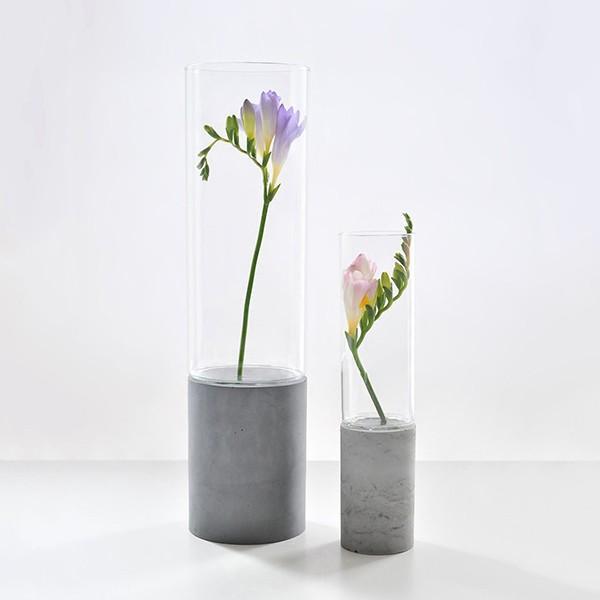 Váza Abha S – svetlošedá