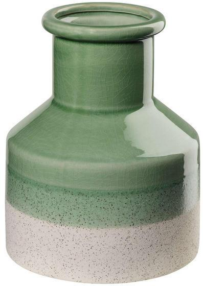 VÁZA, keramika, 19,2 cm - svetlozelená