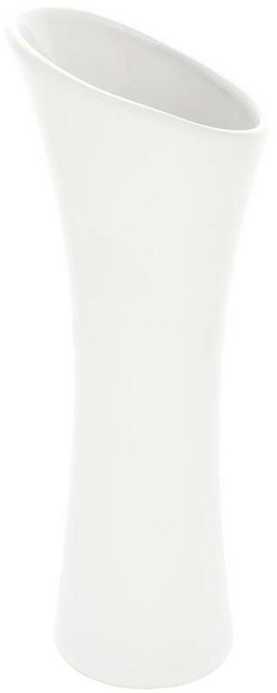 VÁZA, keramika, 35 cm - biela