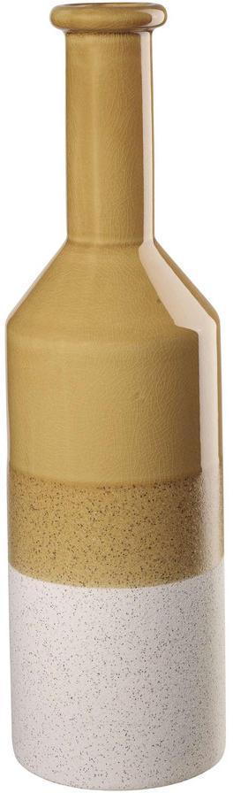 VÁZA, keramika, 41,5 cm - žltá
