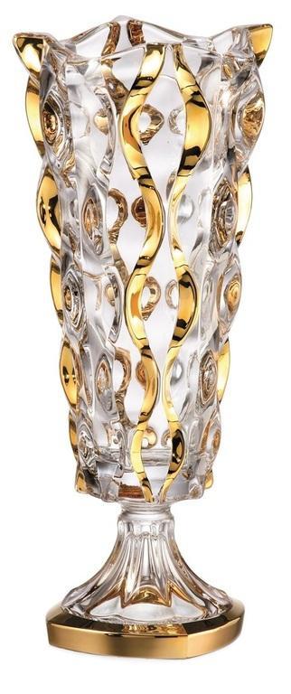 Váza Samba zlato, bezolovnatý crystalite, výška 405 mm