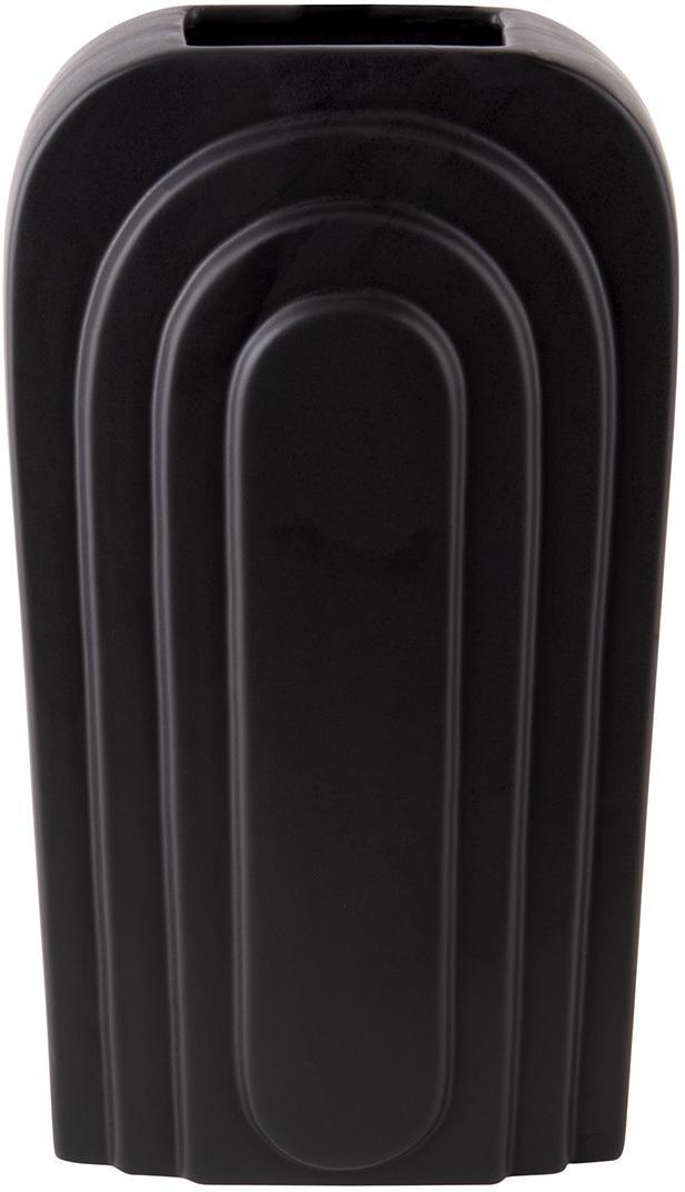 Veľká váza Arc – čierna