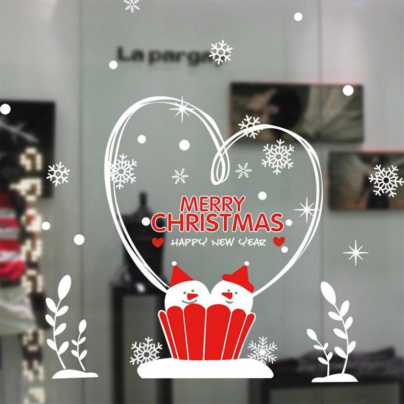 Veľká vianočná samolepka na sklo Varianta: 3
