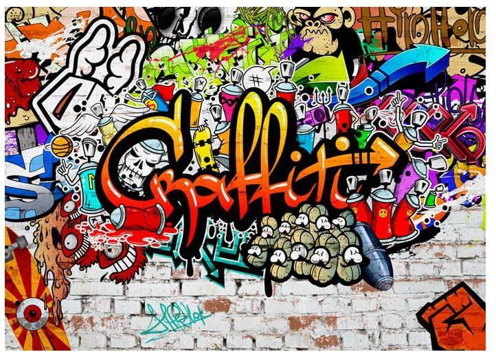 Veľkoformátová tapeta Bimago Colourful Graffiti, 400 × 280 cm