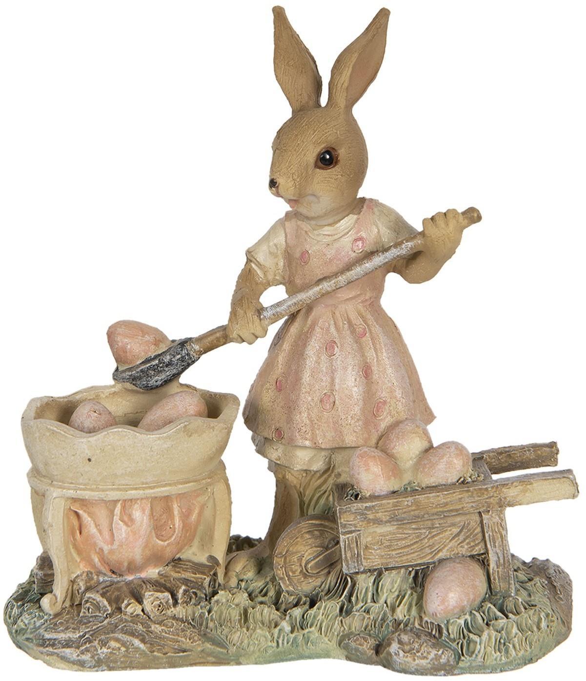 Veľkonočné dekorácie králičie slečny naberajúce vajíčka - 12 * 6 * 12 cm