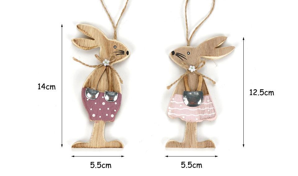 Veľkonoční drevení zajačikovia - 6 ks Varianta: 3