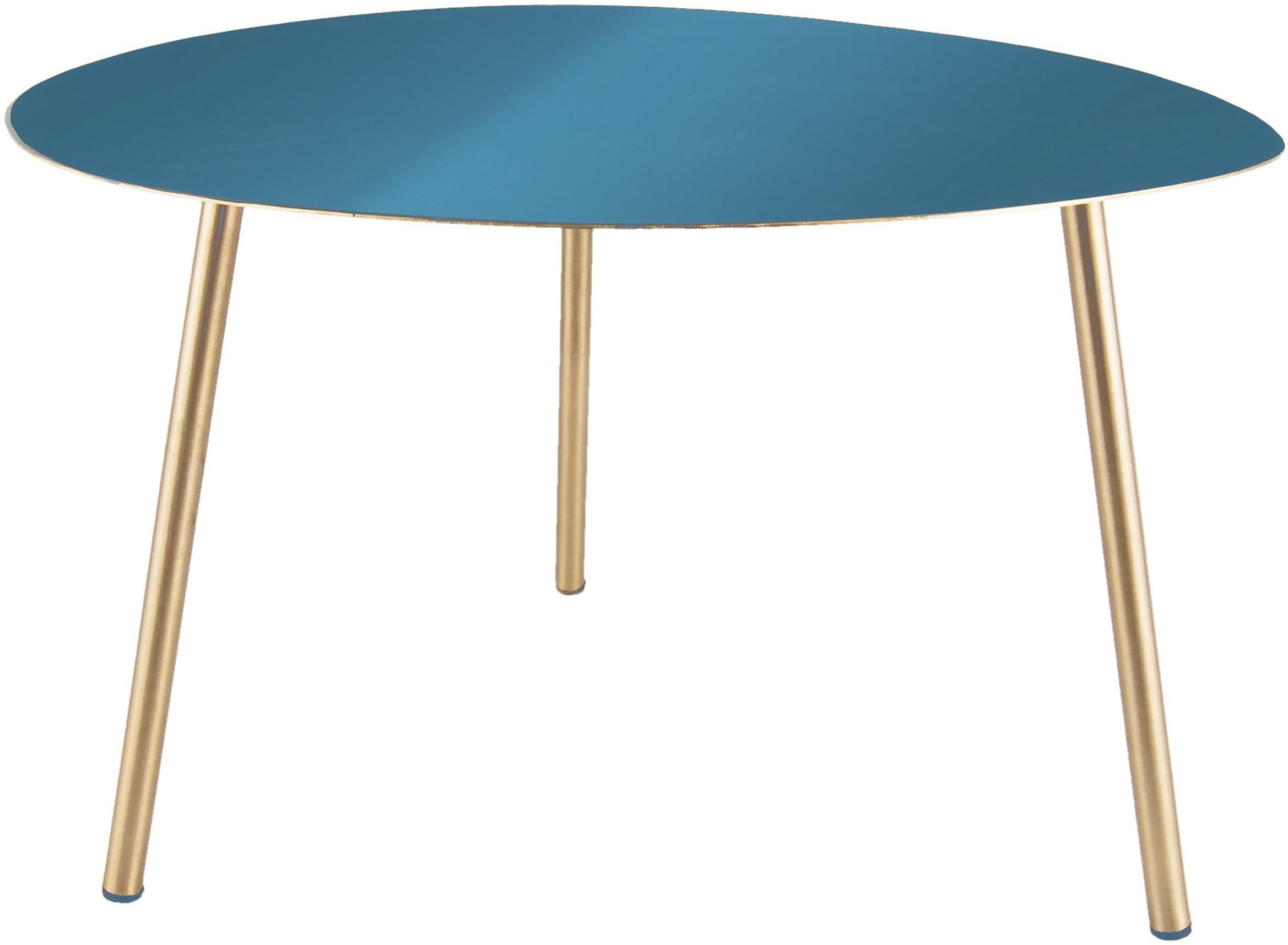 Veľký modro-zlatý stolík Ovoid