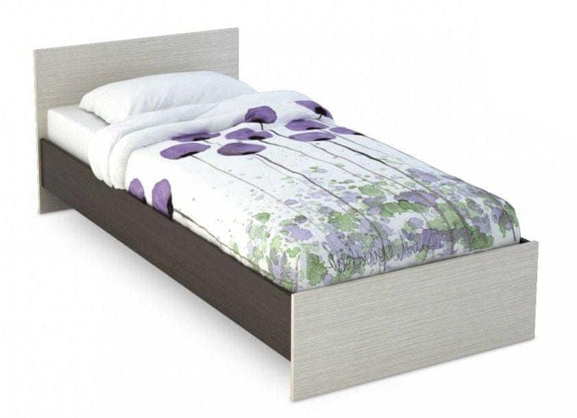 VerDesign BASKA posteľ 80x200 KP-554, dub belfort