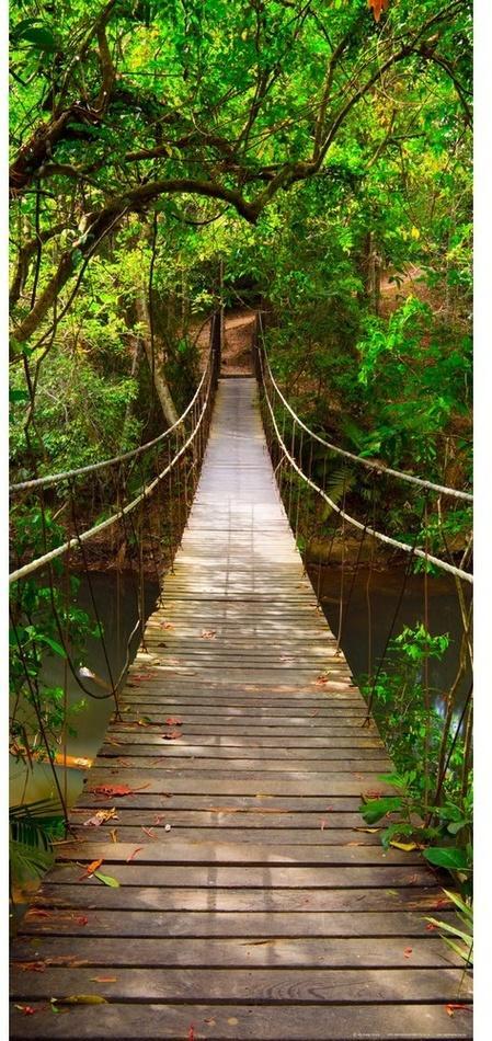 Vertikálna fototapeta Green bridge, 90 x 202 cm
