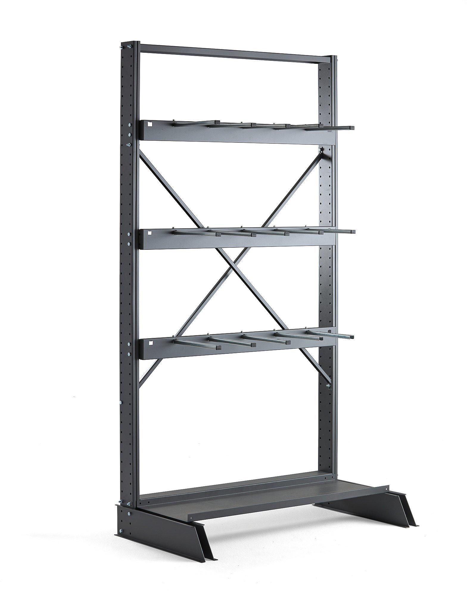 Vertikálny regál Plus, jednostranný, základná sekcia, 2500x1250 mm