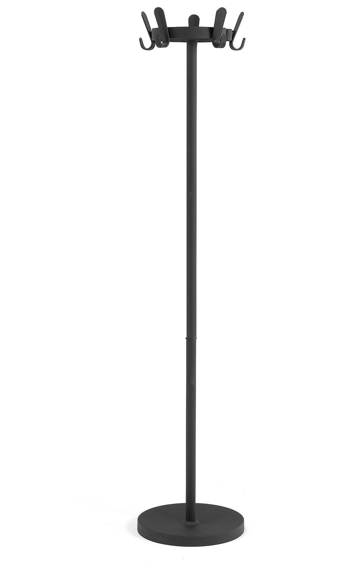 Vešiak na kabáty Graphite, 5 dvojitých háčikov, čierny