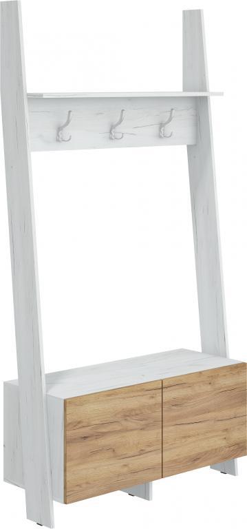 Vešiak Rack (craft biely + craft zlatý)