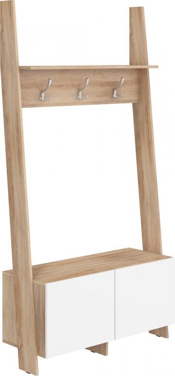 Vešiak - WIP - Rack (dub sonoma svetlá + biely lesk). Sme autorizovaný predajca WIP.