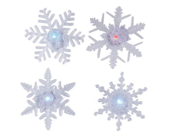 SVENSKA LIVING Vianočná okenní LED dekoracie vločka prísavná