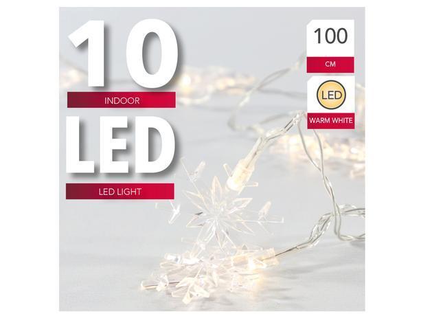 Vianočná svetelná reťaz 10 LED vločka