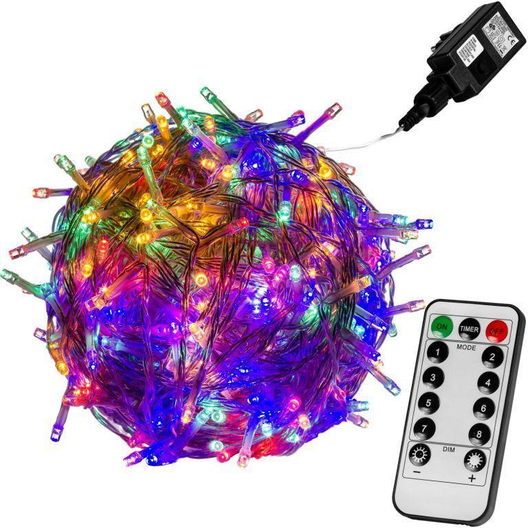 Vianočné LED osvetlenie - 20 m, 200 LED, farebné, ovládač