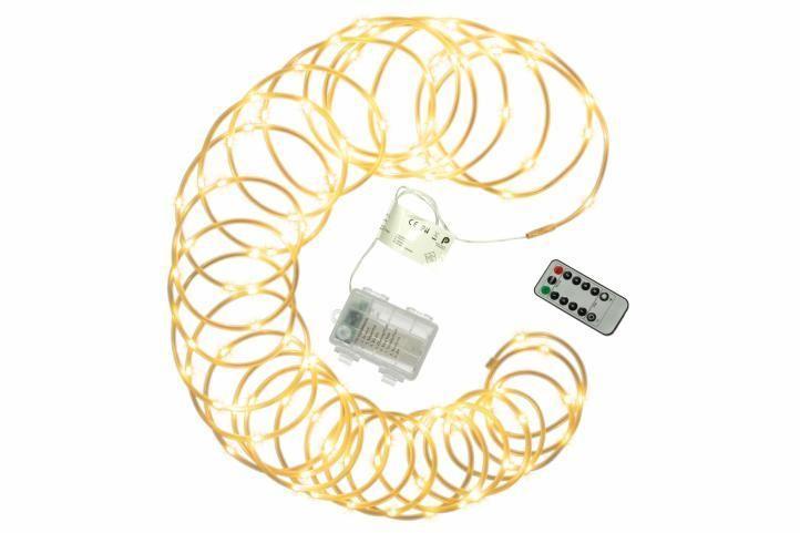 Vianočné LED osvetlenie - MINI kábel - 10 m teplá biela