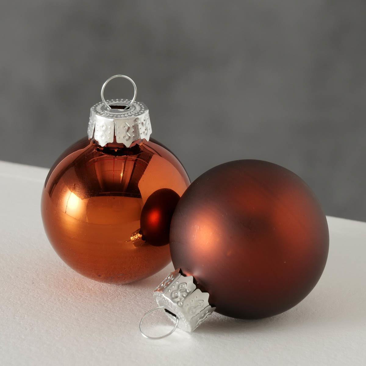 Vianočné ozdoby 16 kusov, oranžové
