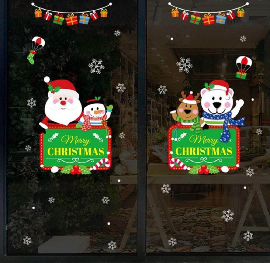 Vianočné samolepka na sklo Varianta: 6