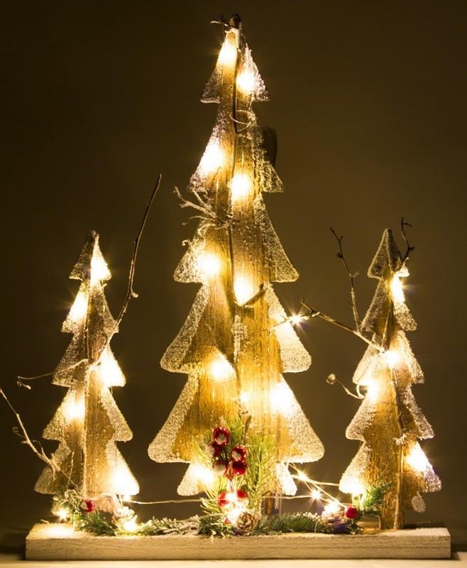 Vianočné stromčeky - sada 3ks
