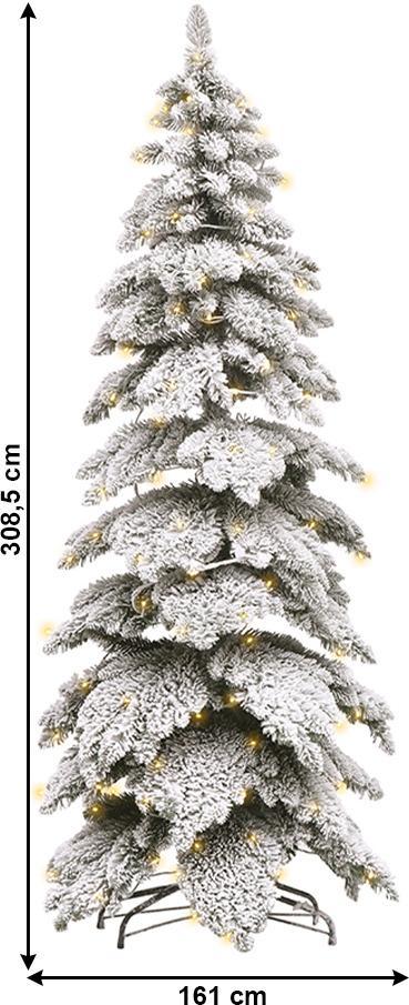 Vianočný stromček, zasnežený, 308,5 cm, MARAVEL TYP 5