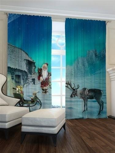 Vianočný záves Santa a Rudolf