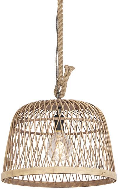 Vidiecka závesná lampa ratan - Calamus