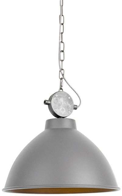 Vidiecka závesná lampa šedá - Anterio 38