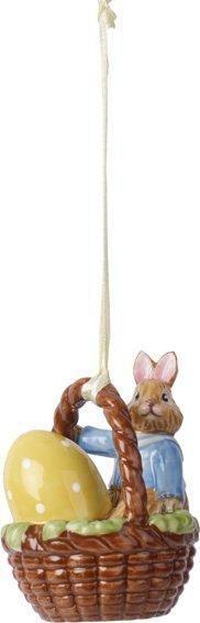 Villeroy & Boch Bunny Tales veľkonočná závesná dekorácia, zajačik Max v košíčku