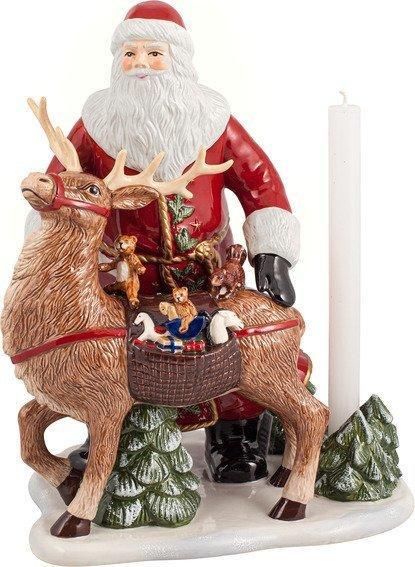Villeroy & Boch Christmas Toys Memory svietnik Santa so sobom, 30 cm