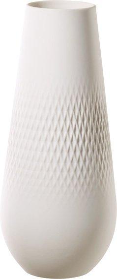 Villeroy & Boch Collier Blanc porcelánová váza Carré, 26 cm
