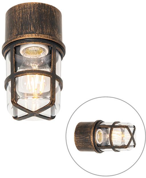 Vintage vonkajšia nástenná lampa čierna IP54 - Kiki