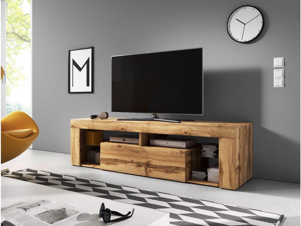 VIVALDI TV stolík EVEREST 140, dub wotan