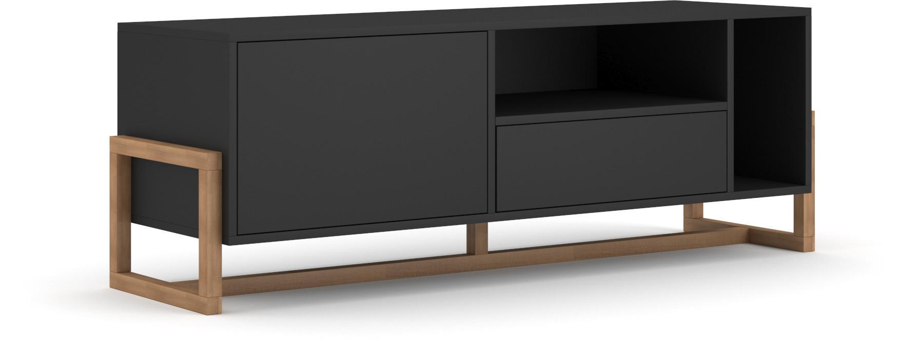 VIVALDI TV stolík OSLO čierny matný