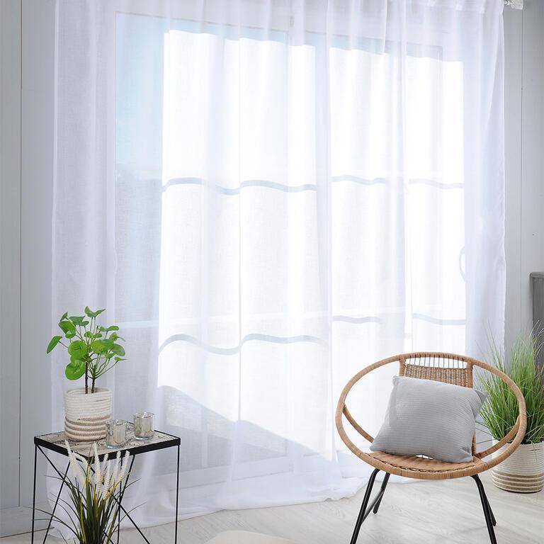 Voálová záclona na francúzske okno MADRID XXL 290 x 280 cm