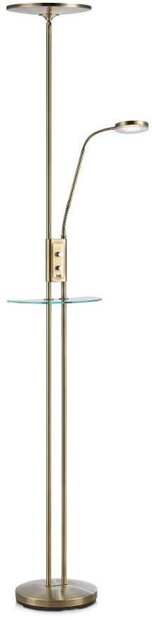 Voľne stojacia LED lampa v mosadznej farbe Markslöjd Friend Uplight