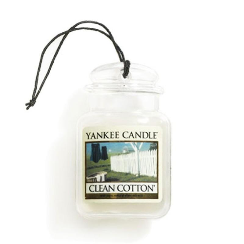Vôňa do auta Yankee Candle - Clean Cotton