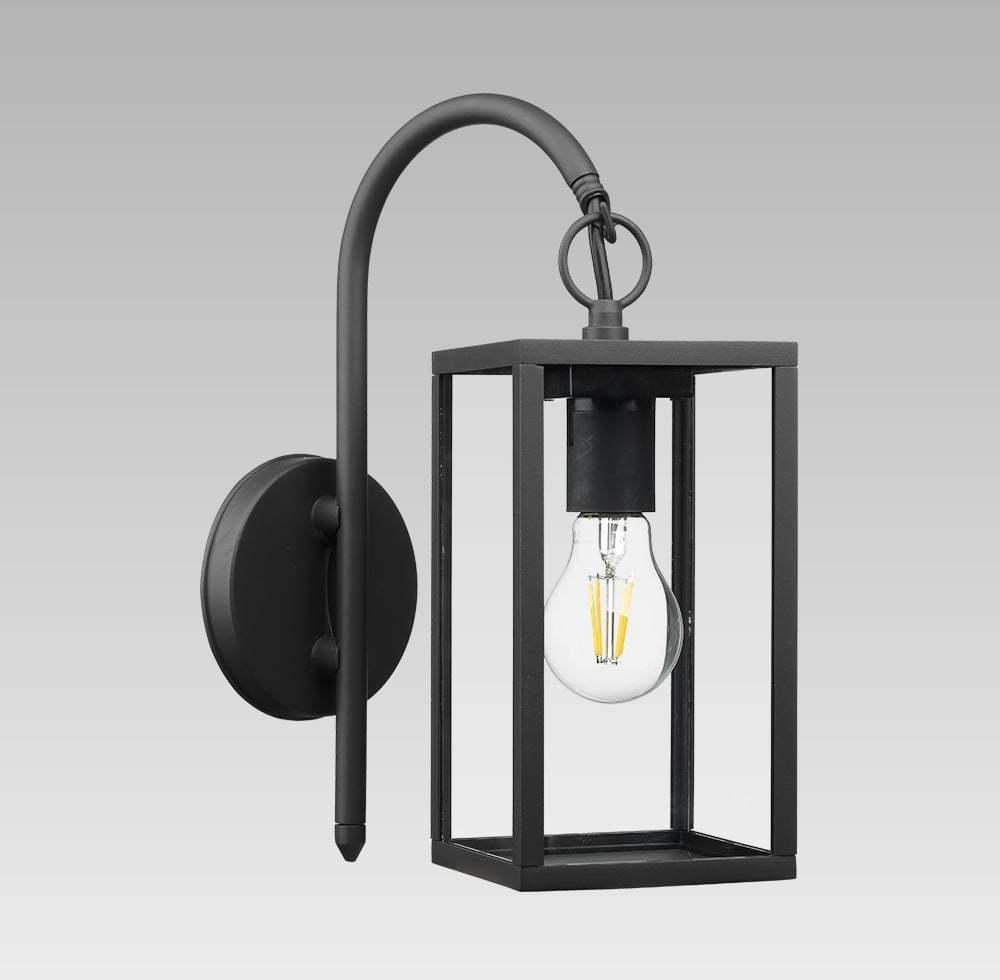 Vonkajšie nástenné svietidlo PREZENT LOARA čierna / číra 65304
