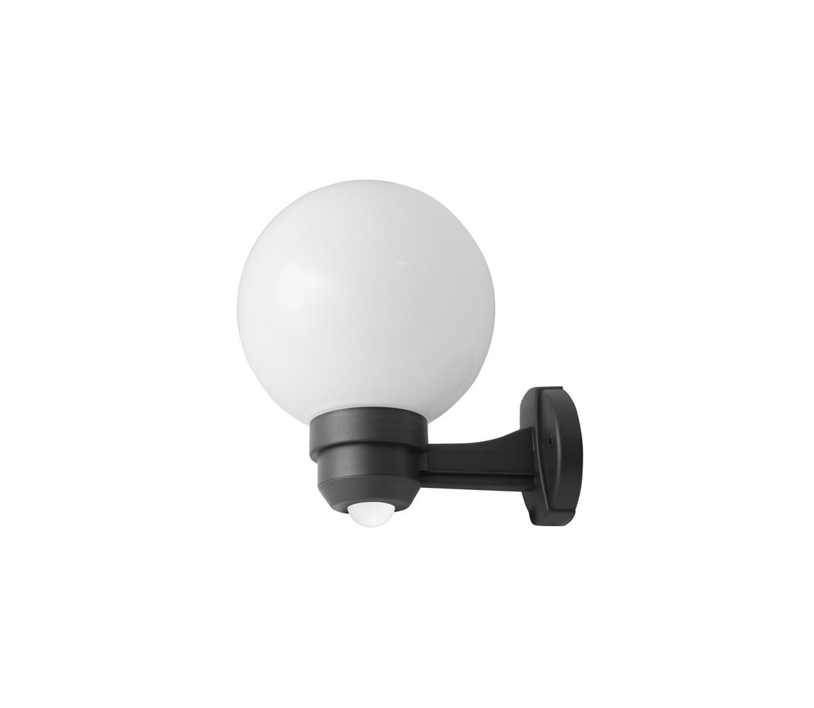 Vonkajšie nástenné svietidlo s čidlom 1XE27/60W/230V