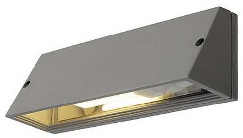 Vonkajšie nástenné svietidlo SLV PEMA striebornošedá 230034