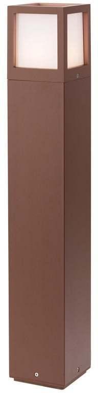 Vonkajšie stojanové svietidlo REDO BRICK hnedá hliník  9645