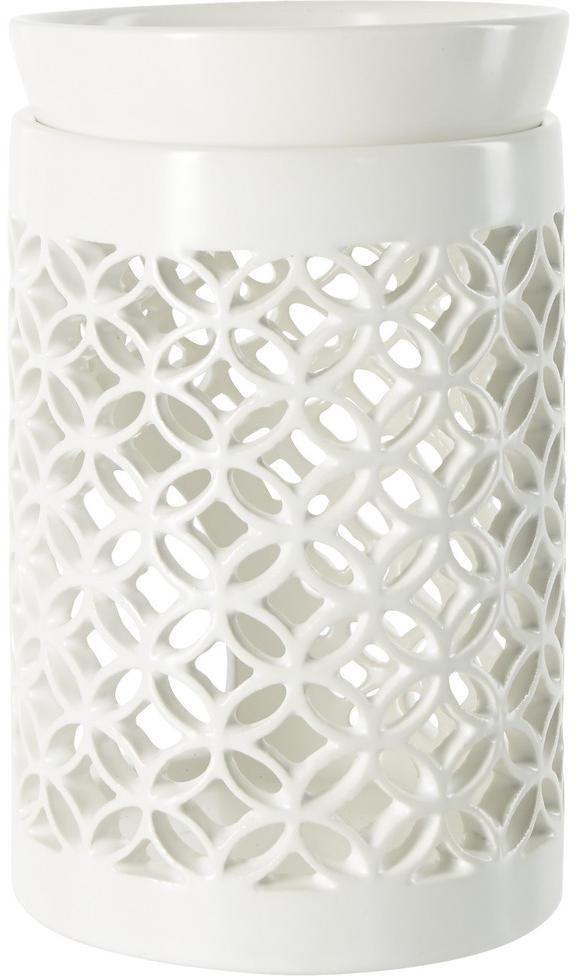 VONNÁ LAMPA, keramika - biela