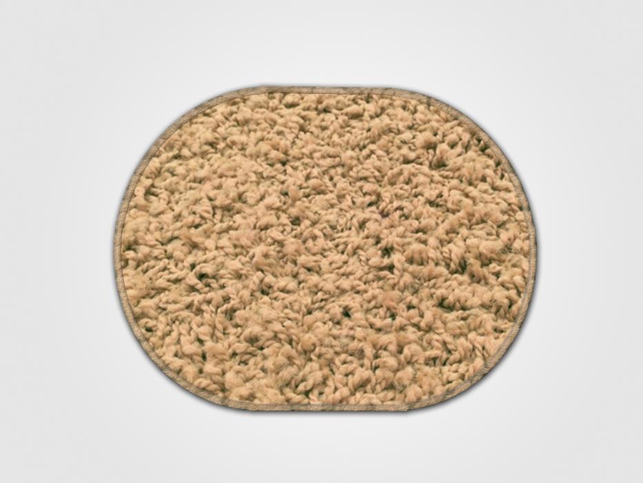 Vopi koberce Kusový koberec Color shaggy béžový ovál - 140x200 cm